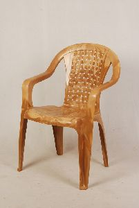 Dark Cream Color Matt Finish Plastic Chair