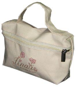 Handles Cotton Cosmetic Bag