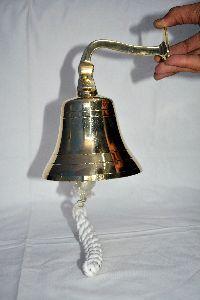"""Noor Handicrafts Brass Ship Bell 6"""" """"Jumbo Bell"""" """"Door Bell"""""""