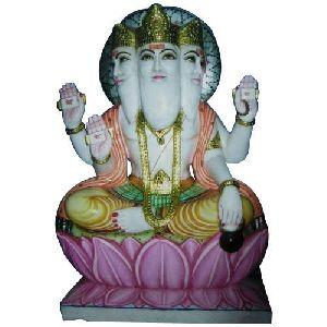 Marble Brahma Statue