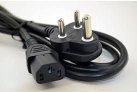 Computer Power Cable Cord for Desktops PC and Printers/Monitor SMPS Power Cable IEC Mains Power Cabl