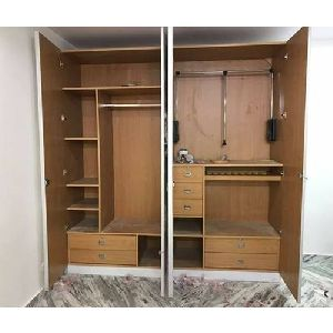 9 Feet Lockable Wooden Wardrobe