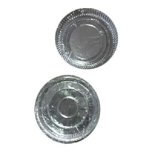 Silver Round Paper Plates