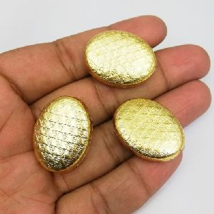 Trendy Gold Plated Fancy Oval Bead