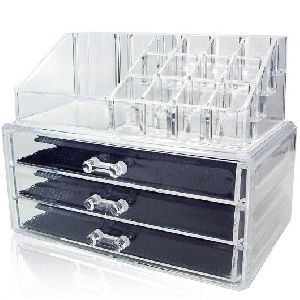 Acrylic Jewelry And Cosmetic Storage