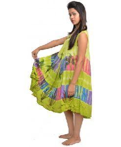 Girls Rayon Tie Dye Dress