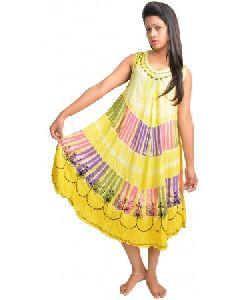 Rayon Tie Dye Summer Dress