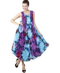 Sleeveless Women Long Tie Dye Dress
