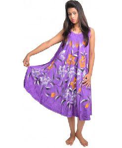 Umbrella Tie Dye Baby Doll Maxi Dress