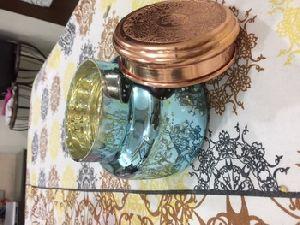 Glass Jar Mercury Finish