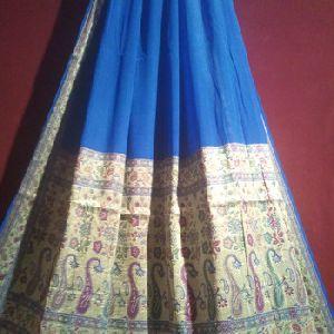 Banarasi Handloom Pink Color 100% Chiffon Silk Saree
