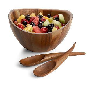 Wooden Salad Bowl Serving Set