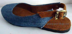 Blue Denim Leather Sandals