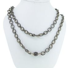 Pave Diamond Fashion Long Chain Necklace