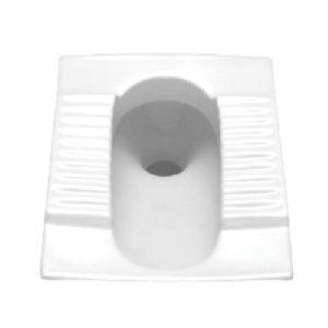 White Orissa Pan Indian Toilet Seat