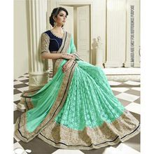 Party Wear Heavy Designer Embroidered Saree