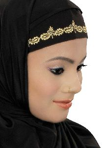 Black Color Designer Kashibo Hijab
