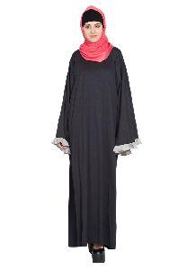 Womens Abaya Black Andgrey Color Fancy