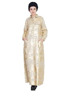 Womens Abaya Gold Color Modest