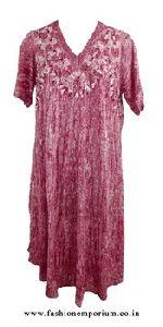 Marble Dye Umbrella Dress