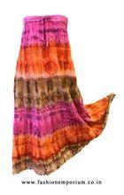Super Dye Cotton Voile Long Skirt
