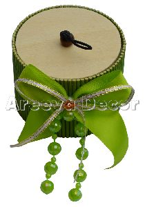 Green Wood And Jute Gift Box