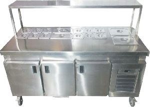 Cold Bain Marie With Undercounter Refrigerator