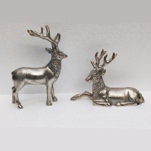 Reindeer Pair Aluminium Deer Statue