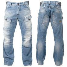 Mens Denim Cargo Jeans