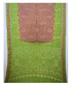 Fancy Bandhej Design Bandhani Gadhwal Silk Saree