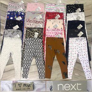 Kids Girls Printed Leggings Brand - Next