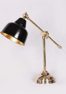 Polish Brass Black Lamp Shade