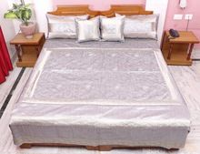 Traditional Embroidered Silk Home Bed Cover