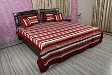 Striped Designer Silk Bed Sheet