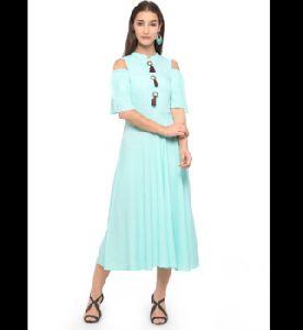 Ladies Party Wear Rayon Plain Kurti