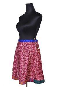 Handmade Pure Silk Kantha Skirt