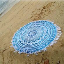 Cotton Roundie Mandala Beach Throw Hippie Yoga Mat