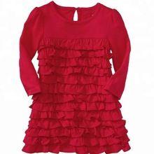 Ruffled Long Sleeve Dress