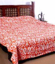 Ikat Kantha Quilt Ikat Cotton Bedspread