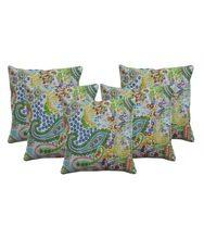 Paisley Kantha Pillow Throw Cotton Cushion Cover