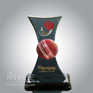 Cricket Glass Trophy