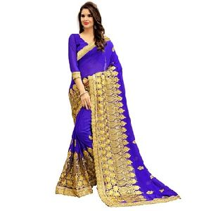 Full Embroidery Designer Saree