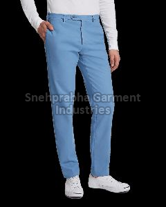 Blue Mens Casual Trousers