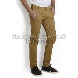 Brown Mens Casual Trousers