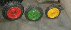 Solid Rubber Cushion Tyred Wheels