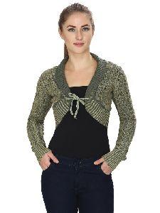 Green Short Shrug For Womens