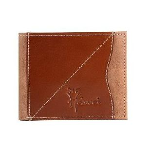 Brown Genuine Leather 6 Card Slot Pocket Wallet