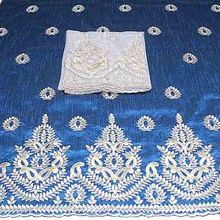 Rich Embroidery Indian Made African George Fabric