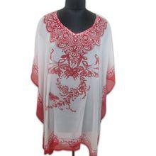 Rosie Embroidered Cotton Kaftan