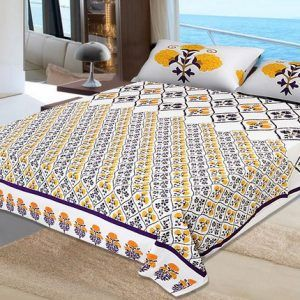 100 % Cotton Bed Sheet Set King Size 90108 Inches Comes